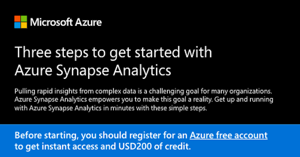 "Featured image for ""Three steps to get started with Azure Synapse Analytics """